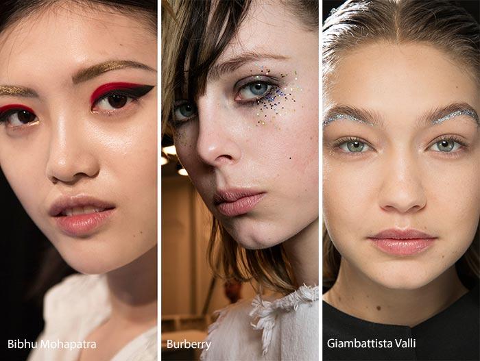 Machiaj festiv cu gliter în tendințele modei anului 2016, Foto: fashionisers.com
