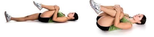 Exerciții de îndoirea genunchilor la piept, Foto: melkshamchiro.wordpress.com