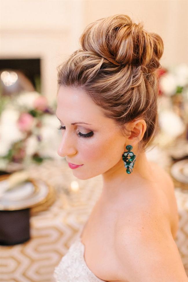 Părul prins într-un coc elegant, Foto: baglicakuafor.com